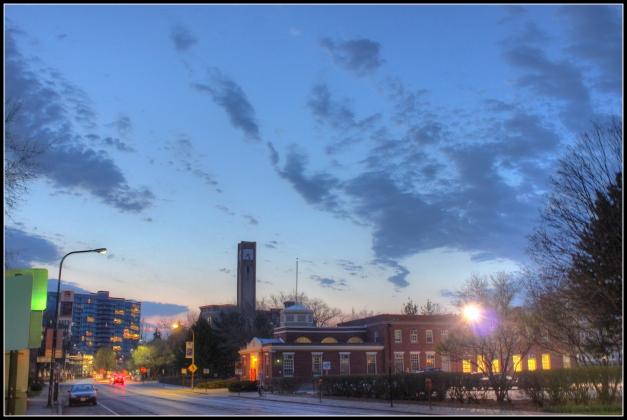 Evanston at dusk
