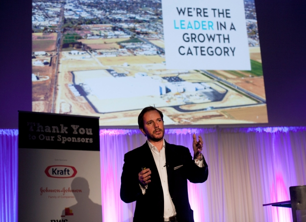 Peter McGuinness, Chief Marketing and Brand Officer at Chobani, delivers his keynote presentation at Kellogg Marketing Conference 2014.