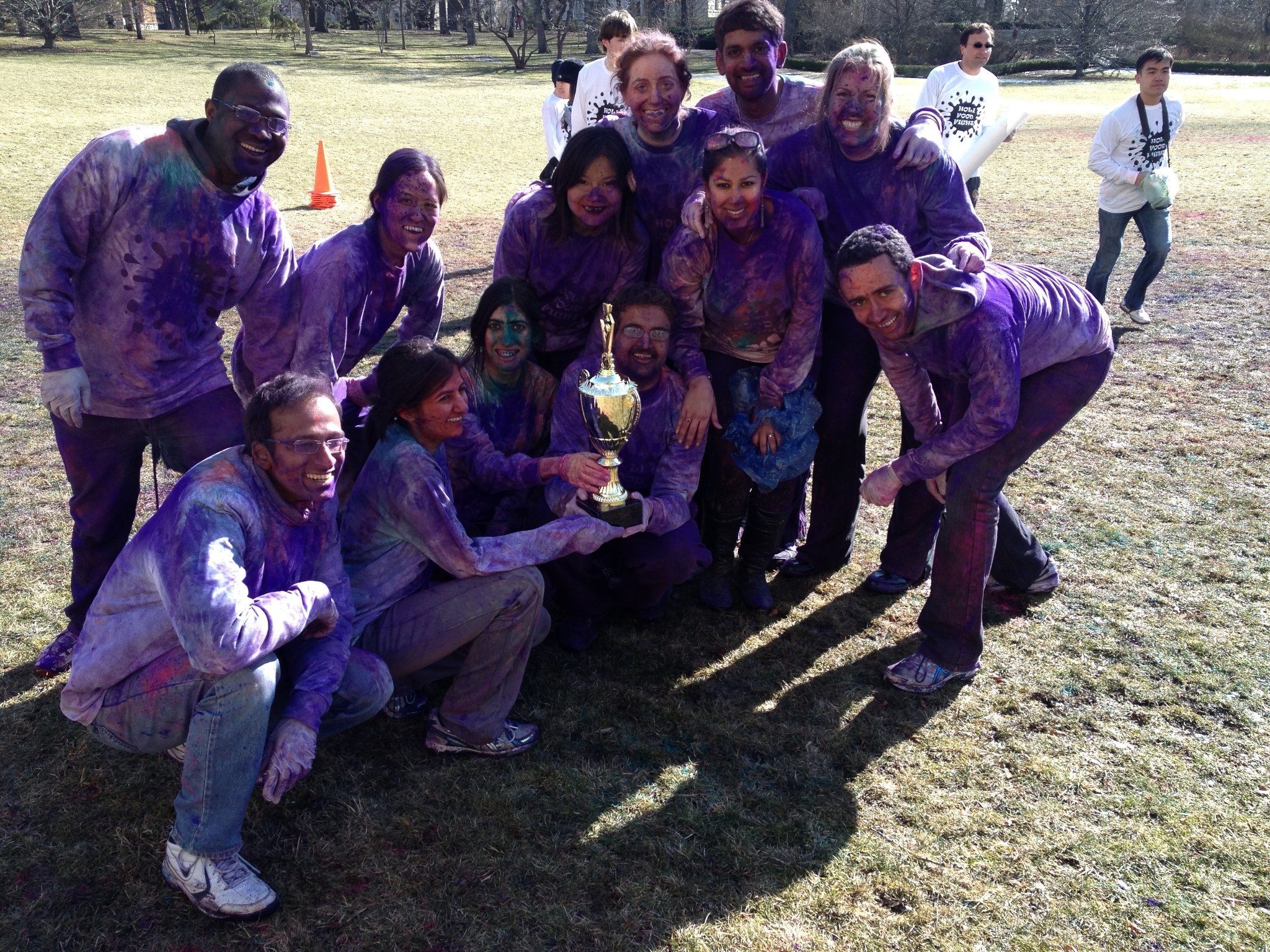 The winning team of the Holi Food fight organized by IBC and Kellogg Cares