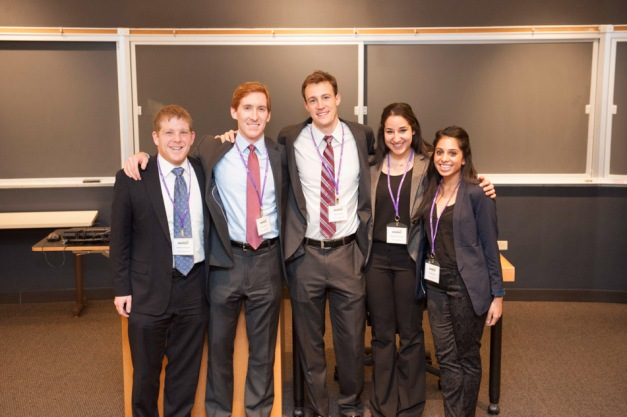 Sheila Shah with her Kellogg teammates at 2014 Kellogg Biotech & Healthcare Case Competition