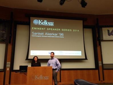 Chief Evangelist of Microsoft Sanket Akerkar speaks at Kellogg. Picture by @voserw
