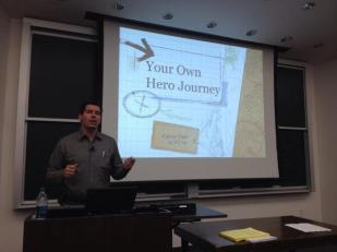 Carter Cast closing out #LeadershipWeek2014, helping us find our own hero journeys. — @KelloggBLC