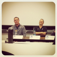 Football coach Pat Fitzgerald (@coachfitz51) and Men's Basketball coach Chris Collins (@coach_collins) at Kellogg discussing leadership. @kelloggschool @northwesternu #mykellogg — @hipsince85