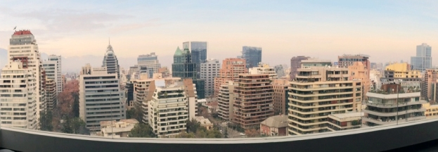 The view of Santiago before Kellogg's info session last week