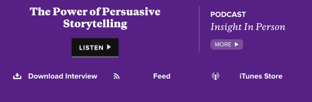 Podcast - The Power of Persuasive Storytelling